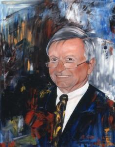 Prof. Dr.-Ing Sepold, 80x100, Öl auf Leinwand